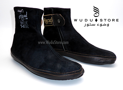 AZAD LEATHER / SUEDE SOCKS (STORM)