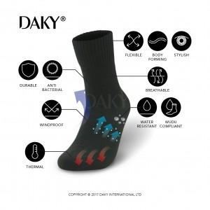 DAKY PHANTOM (BLACK) - WUDU COMPLIANT & WATERPROOF SOCKS