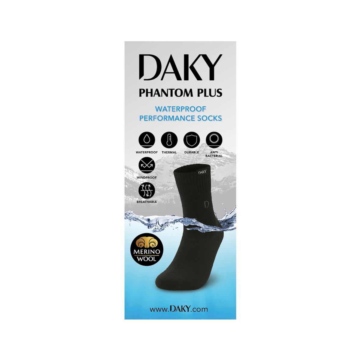 Over Ankle BLACK DAKY PHANTOM - WUDU COMPLIANT /& WATERPROOF SOCKS