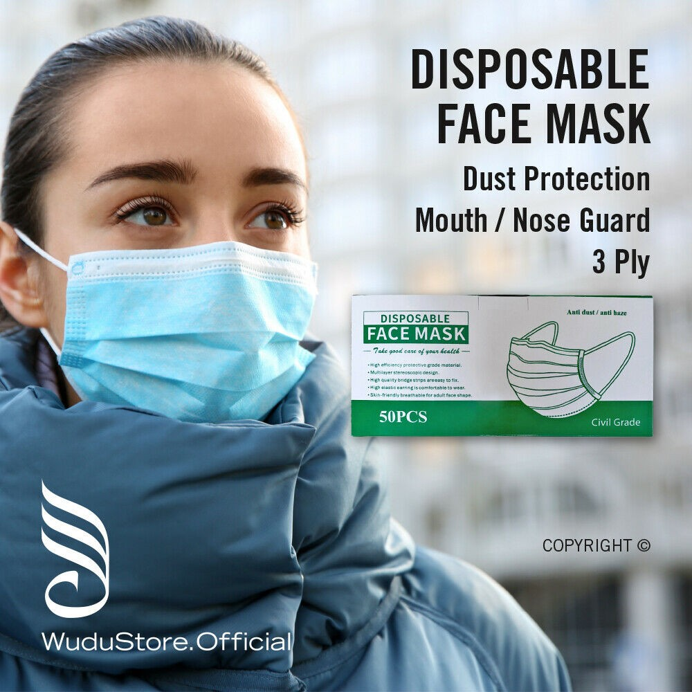 10 x Premium Quality Disposable Face masks, Mouth and Nose Respiratory Protection - UK