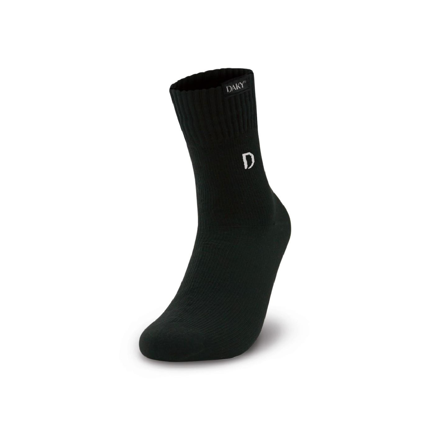 DAKY (PHANTOM X) - WUDU (MASAH) COMPLIANT & WATERPROOF BLACK SOCKS