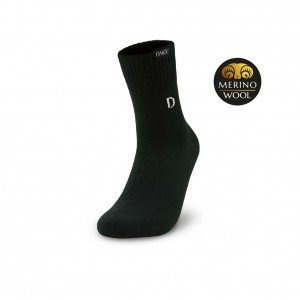 DAKY (PHANTOM PLUS) - WUDU COMPLIANT & WATERPROOF BLACK SOCKS (Merino Wool)