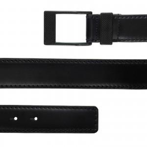 KASPARI carbon buckle leather belt