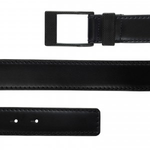 KASPARI carbon buckle leather belt